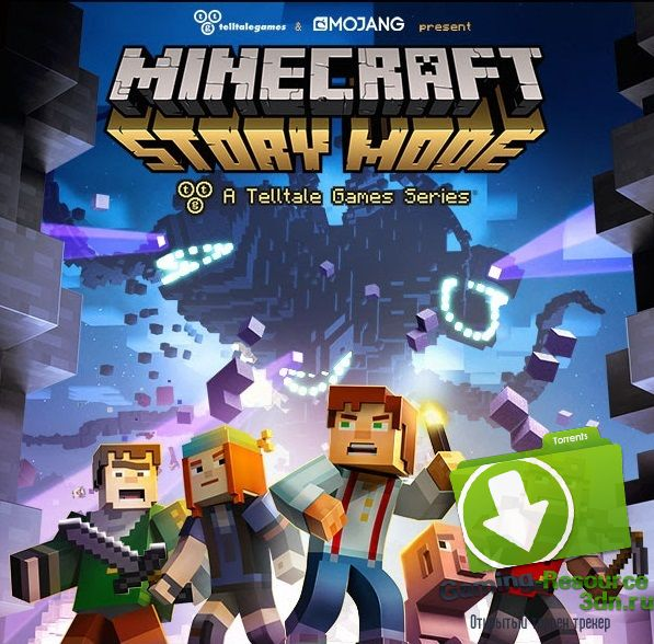 Minecraft: Story - Mode Episode 1 (Telltale Games) [RUS/ENG/MULTi7] от RELOADED