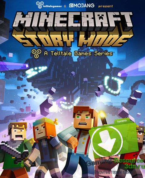 Minecraft: Story Mode - A Telltale Games Series (RUS/ENG/Multi6) [Repack] от R.G. Catalyst