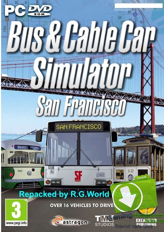 Bus-Tram-Cable Car Simulator: San Francisco [1.0.7] [RePack by R.G.World Racers] [Eng/Rus] (2011)